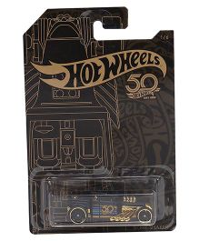 Hot Wheels 50th Anniversary Bone Shaker Toy Car - Black Gold