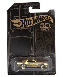 Hot Wheels 50th Anniversary 67 Camaro Toy Car - Black Gold