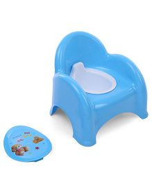 Potty Chair With Backrest Puppy Print - Blue