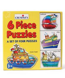 Creative 6 Piece Puzzles - Yellow