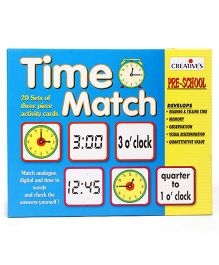 Creative's Time Match Activity Cards - 60 Pieces