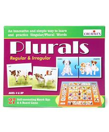 Creative Plurals Regular & Irregular Board Game - Multicolor