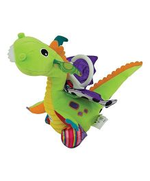 Lamaze Stroller Flip Flap Dragon Clip On Soft Toy - Multicolour
