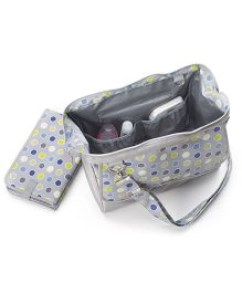 Demdaco Diaper Bag Polka Dots Print - Grey