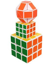 Emob 3 in 1 Magic Rubik's Cube Toy Pack Of 3 - Multicolour
