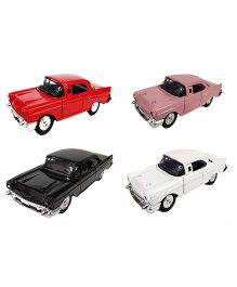 Emob Vintage Luxury Diecast Metal Car Model Auto Series Pack of 4 - Multicolour
