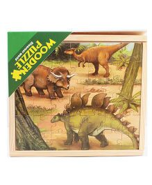 Emob Wooden Dinosaur Jigsaw Puzzle Multicolour - 147 Pieces