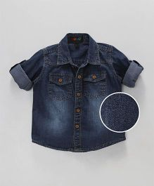 Robo Fry Full Sleeves Denim Shirt - Dark Blue