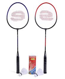 Super K Badminton Set With 3 Shuttle Cocks - Racket Length 68 cm