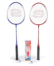 Super K Badminton Set With 6 Shuttle Cocks - Racket Length 68 cm