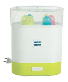 Mee Mee Advanced 3 in 1 Steam Sterilizer Bottle & Food Warmer - Green & White
