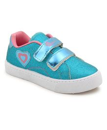 MYAU Velcro Closure Casual Sneakers - SkyBlue