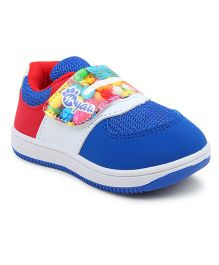 MYAU Velcro Closure Casual Sneakers - Blue Red
