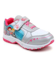 MYAU Velcro Closure Casual Sneakers - Silver Pink  ( 7 to 8 Years)