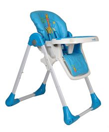 GetBest High Chair Giraffe Print - Blue