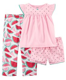 Carter's 3-Piece Jersey Night Suit - Pink