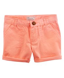 Carter's Solid Shorts - Peach
