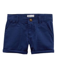 Carter's Twill Roll-Cuff Shorts - Navy