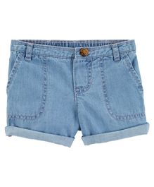 Carter's Denim Roll-Cuff Shorts - Light Blue