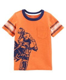 Carter's Dirt Bike Jersey Tee - Orange