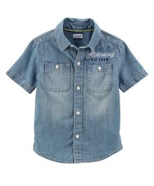 Carter's Chambray Button-Front Shirt - Blue