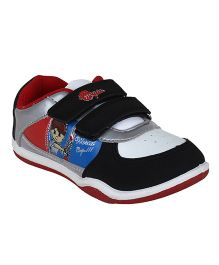 Myau Solid Velcro Closure Casual Shoes - Black & Red
