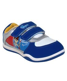 Myau Solid Velcro Closure Casual Shoes - Blue