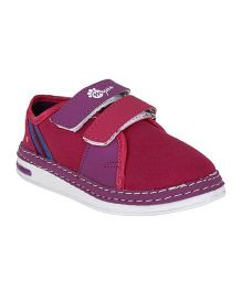 Myau Solid Velcro Closure Casual Shoes - Dark Pink