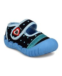 Myau Embellished Heart Shape Velcro Closure Casual Shoes - Sky Blue