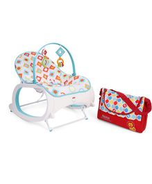 Fisher Price Infant To Toddler Rocker With Diaper Bag - White & Red
