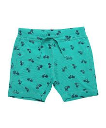 Parrot Crow Tiny Cycle Print Shorts - Green