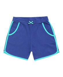 Parrot Crow Plain Shorts With Contrast Border - Navy