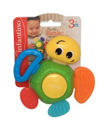 Infantino Turtle Rattle - Multi Color