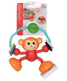 Infantino Stick & Spin High Chair Pal - Red Orange