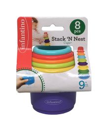 Infantino Stack'N Nest Cups - 8 Pieces