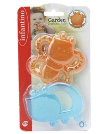 Infantino Garden Teething Pals Water Filled Teethers Pack of 2 - Orange Blue