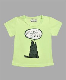 Kiwi Animal Printed T-Shirt - Green