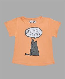 Kiwi Animal Printed T-Shirt - Orange