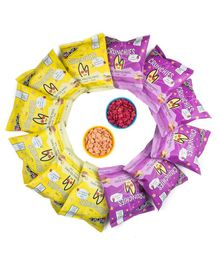 The Mumum Co. Cool Crunchie Combo Pack of 12 Pouches – 20G (6 Strawberry Banana & 6 Beetroot pouches)