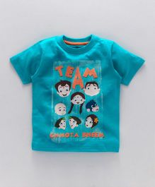 Chhota Bheem Half Sleeves Tee With Free 3D Paper Toy - Sky Blue