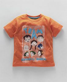 Chhota Bheem Half Sleeves T-Shirt With Free Toy - Orange