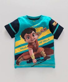 Chhota Bheem Half Sleeves Tee With Free 3D Paper Toy - Black Blue