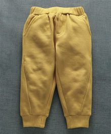 Zero Full Length Solid Colour Lounge Pants -  Yellow