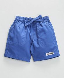 Child World Solid Colour Shorts With Drawstring  - Blue