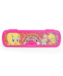 Tweety Printed Pencil Box - Pink