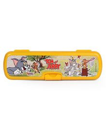 Tom And Jerry Printed Pencil Box - Yellow