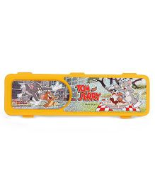 Tom and Jerry Print Pencil Box - Yellow