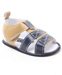Cute Walk by Babyhug Sandal Style Booties - Cream Navy Blue