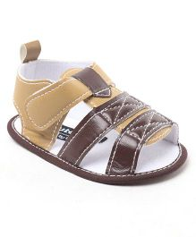 Cute Walk By Babyhug Sandal Style Booties - Cream Brown
