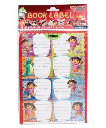 Dora Printed Book Labels - 8 Sheets